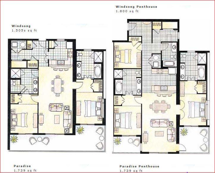 Sunrise Beach Resort Panama City Floor Plans